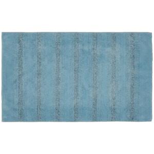 Essence Basin Blue 30 in. x 50 in. Stripe Nylon Bath Mat
