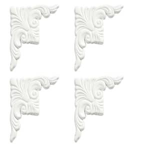 Dove White Decorative Corner Plates (4-Pack)