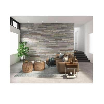 Rustic 46.5 in. x 4 in. Ash Gray Interior Decorative Wall Faux Wood Planks (8-Pack)
