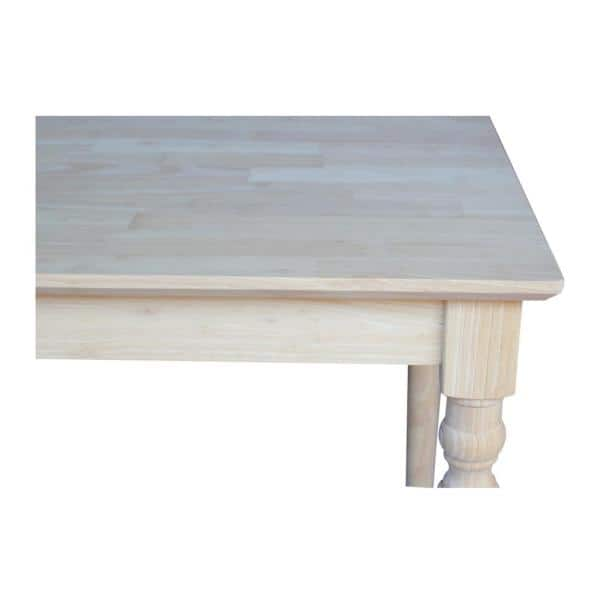 International Concepts Unfinished Dining Table K 3030 330t The Home Depot