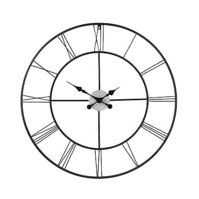 Centurian 30 in. Dia. Metal Wall Clock