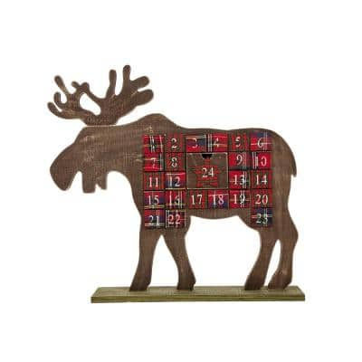 21.74 in. L Wooden Reindeer Countdown