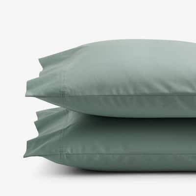 Company Organic Cotton Thyme Cotton Percale Standard Pillowcase (Set of 2)