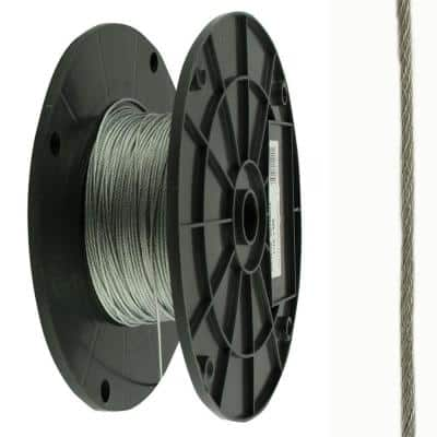 3/32 in. x 1 ft. Stainless Steel Uncoated Wire Rope