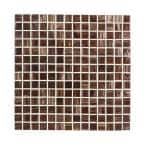 Sasparilla Brown 12 in. x 12 in. Glossy Glass Mosaic Tile (1 sq. ft./Each)