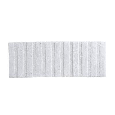 Manchester Solid White Cotton 22X60 Rug