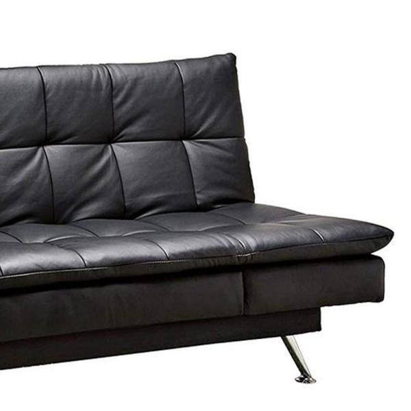 William S Home Furnishing Hasty Contemporary Style Black Futon Sofa Cm2750 The Home Depot