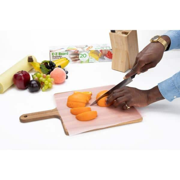 Mind Reader 25 Sq Ft Pink E Z Board Plastic Disposable Cutting Boards Set Of 2 Dcb202pk Pnk The Home Depot