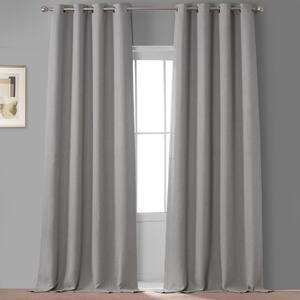 Oatmeal Faux Linen Grommet Blackout Curtain - 50 in. W x 120 in. L