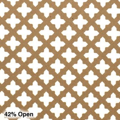 72 in. x 24 in. x 1/8 in. Unfinished Cross Decorative Perforated Paintable MDF Screening Panel Insert