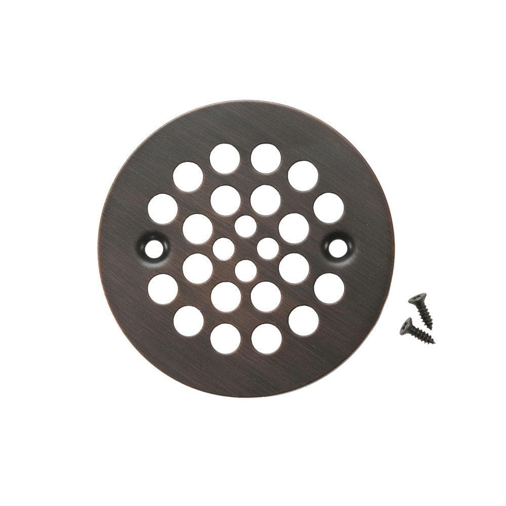 Premier Copper Products 4 25 In Round Shower Drain Cover Oil Rubbed Bronze D 415orb The Home Depot