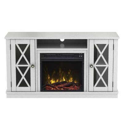Bayport 47.50 in. Media Console Electric Fireplace TV Stand in White