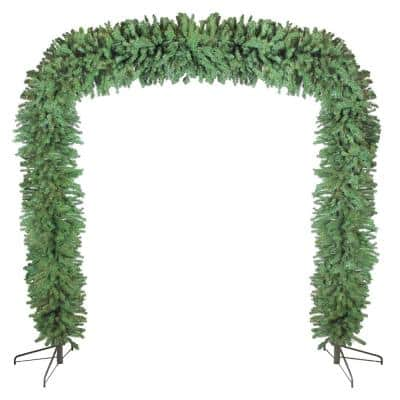 9 ft. x 8 ft. Unlit Commercial Size Green Pine Artificial Christmas Archway