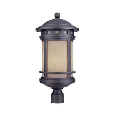 Sedona 3-Light Oil Rubbed Bronze Outdoor Post Lantern