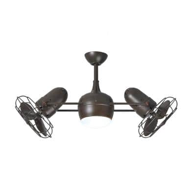 Dagny 40 in. LED Indoor/Outdoor Damp Textured Bronze Ceiling Fan with Remote Control