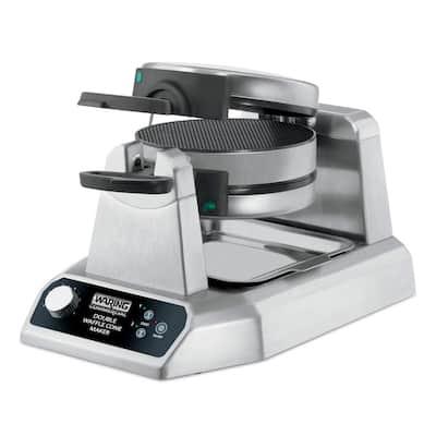120-Volt 1400-Watts Silver Heavy-Duty Double Vertical Waffle Cone Maker