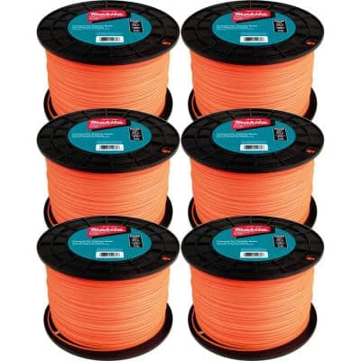 0.095 in. Round Trimmer Line Orange 1,400 ft., 5 lbs. (6-Pack)