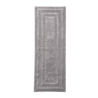Logan Dark Grey 22 in. x 60 in. Solid Cotton 1-Piece Runner Rug