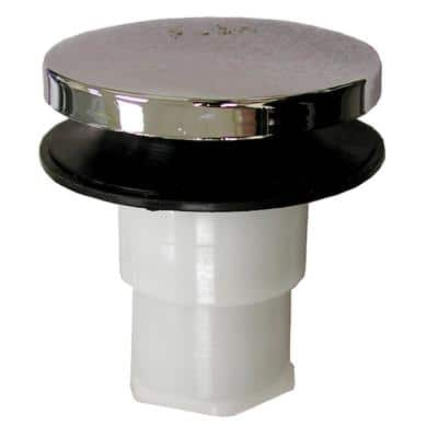 Toe Touch Bath Tub Drain Cartridge with 3/8 in. Threads in Chrome Plated