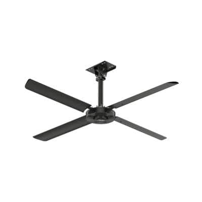 XP 8 ft. 110-Volt Single Phase HVLS Indoor Anodized Black Shop Ceiling Fan with Wall Control