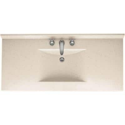 Contour 49 in. W x 22 in. D Solid Surface Vanity Top with Sink in Tahiti Sand