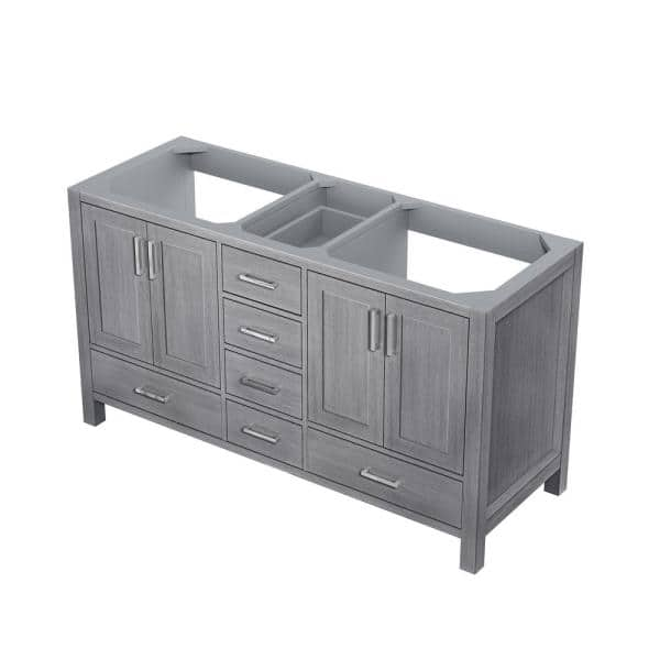 Lexora Jacques 60 Inch Double Bathroom Vanity Cabinet In Distressed Grey Lj342260dd00000 The Home Depot