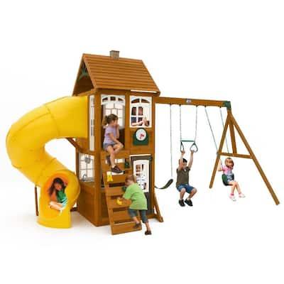 Creston Lodge Wooden Swing Set
