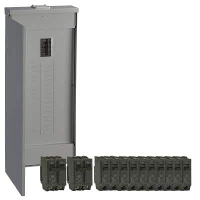 PowerMark Gold 200 Amp 32-Space 40-Circuit Outdoor Main Breaker Value Kit Includes Select Circuit Breaker