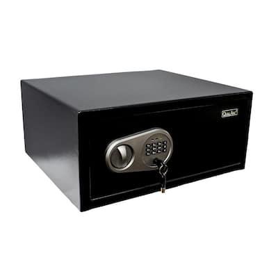 Steel Safe 1.0 cu. ft. Steel Security Laptop/Hotel Safe with Digital Lock Black