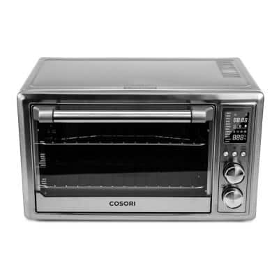 12-in-1 30Qt Stainless Steel Air Fryer Toaster Oven with Extra Wire Rack