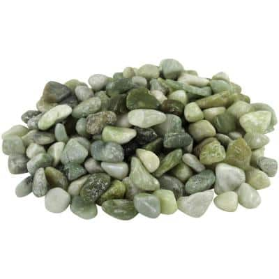 1 in. to 2 in. 20 lb. Medium Jade Pebbles