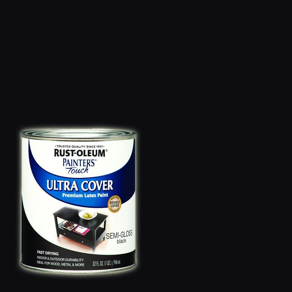 Rust-Oleum Painter's Touch 32 oz. Ultra Cover Semi-Gloss Black General Purpose Paint