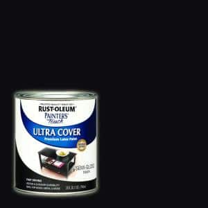 32 oz. Ultra Cover Semi-Gloss Black General Purpose Paint (Case of 2)