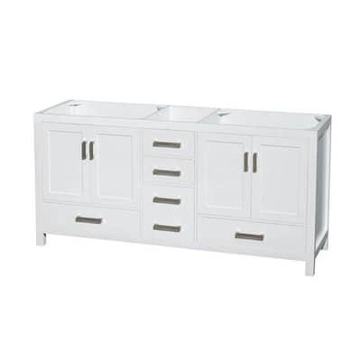 Sheffield 72 in. Double Vanity Cabinet in White