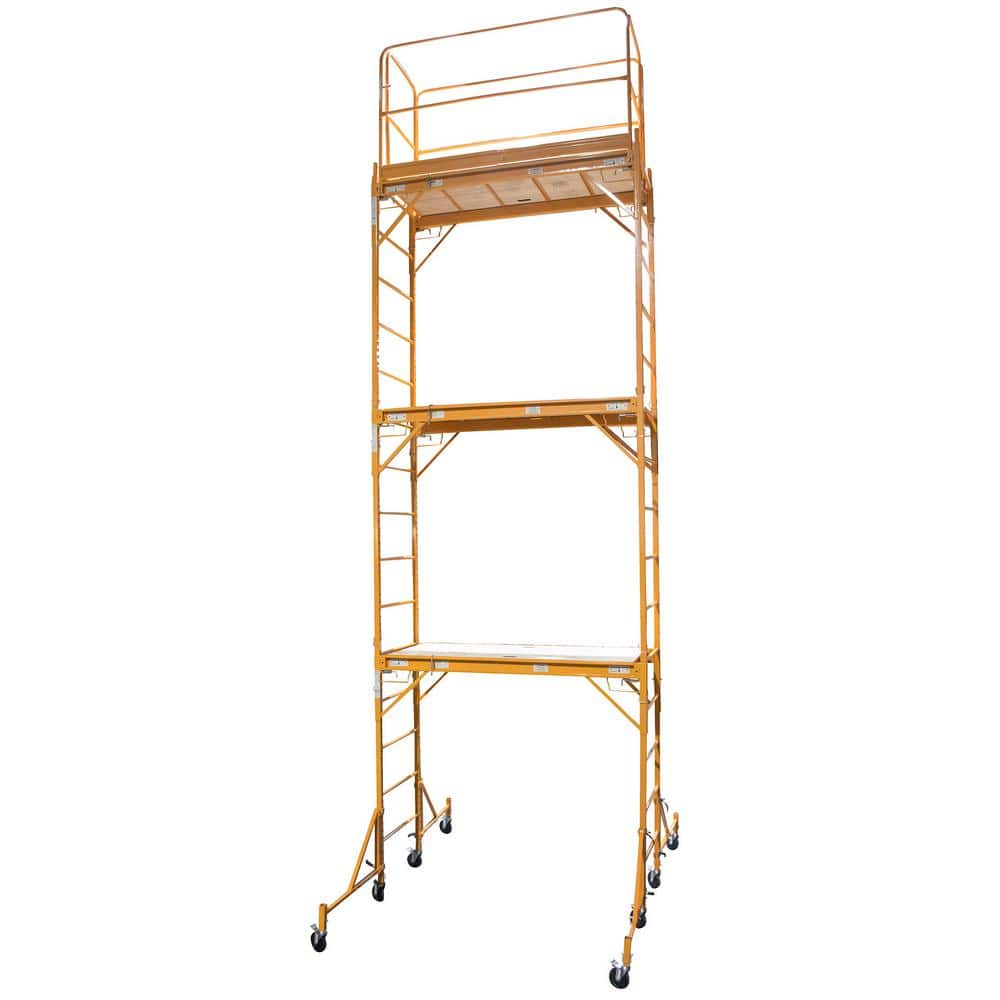 Pro-Series 3-Story Rolling Scaffold Tower with 1000 lbs. Load Capacity