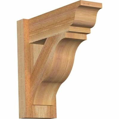 6 in. x 16 in. x 16 in. Western Red Cedar Fuston Traditional Rough Sawn Outlooker