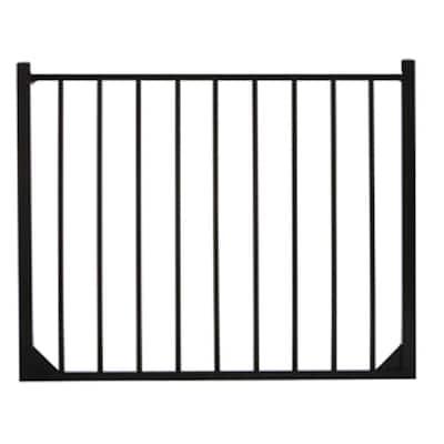 Meriden 4 ft. W x 4 ft. H Single Aluminum Fence Gate 2-Rail