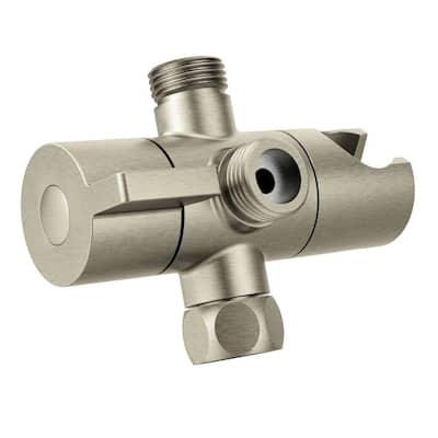 Shower Arm Diverter, Brushed Nickel