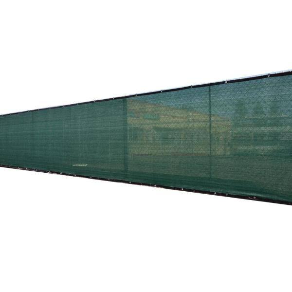 Fence4ever 46 In X 50 Ft Green Privacy Fence Screen Plastic Netting Mesh Fabric Cover With Reinforced Grommets For Garden Fence F4e G450fs A 90 The Home Depot