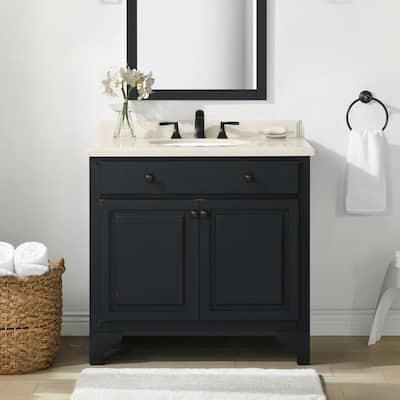 36 Inch Vanities Black Bathroom Vanities Bath The Home Depot