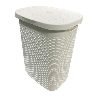 MH 50 l Capacity White Plastic Laundry Hamper