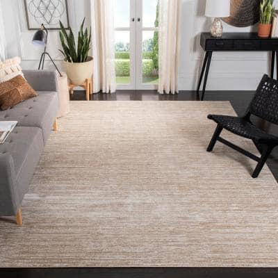 Vision Cream 8 ft. x 10 ft. Solid Area Rug