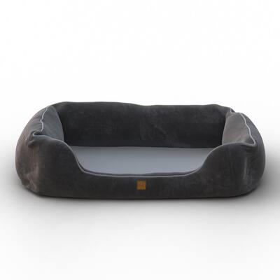 Heavenly Orthopedic Medium Grey Breathable Dog Lounge Bed Cushion