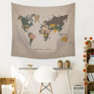 ''Adventure Map'' Wall Tapestry