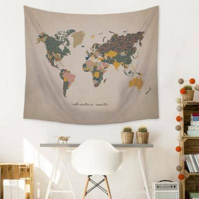 """""""Adventure Map"""" Wall Tapestry"""