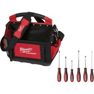 15 in. PACKOUT Tote with 6-Piece Screwdriver Set