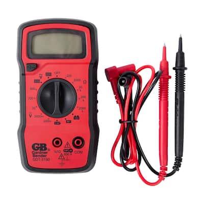 4-Func 14-Range Manual Digital Multimeter
