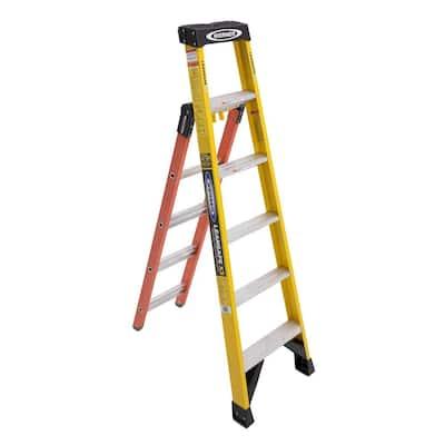 LEANSAFE X3 6 ft. Fiberglass Professional 3-in-1 Multi-Purpose Ladder (10 ft. Reach)