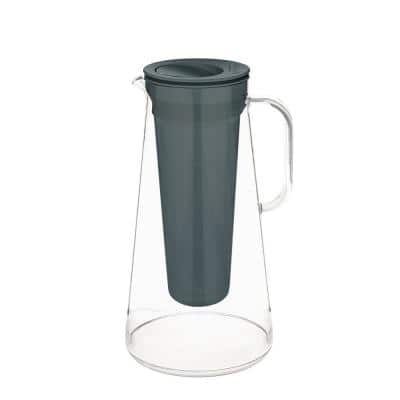 Home 7-Cup Water Filter Pitcher in Grey, BPA Free