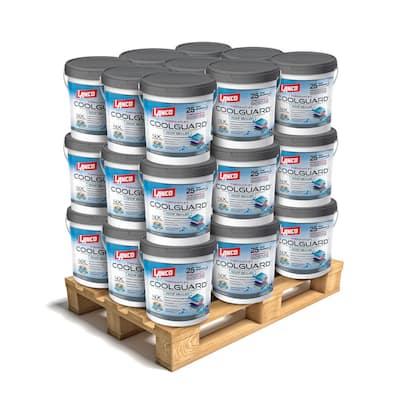 5 Gal. Coolguard 100% Acrylic Urethane Elastomeric Reflective Roof Coating w/ Dramatic Temperature Reduction (27-Piece)